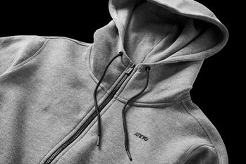 ateyo grey zip-up