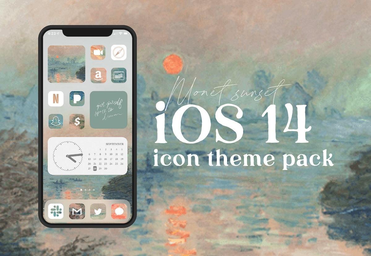 Monet Sunset Icon Theme Pack