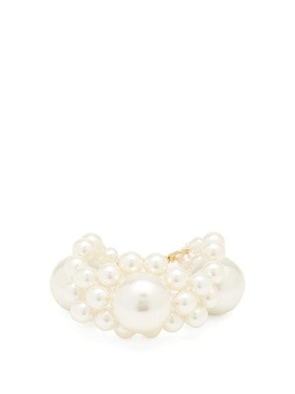 Daisy Faux-Pearl Bracelet