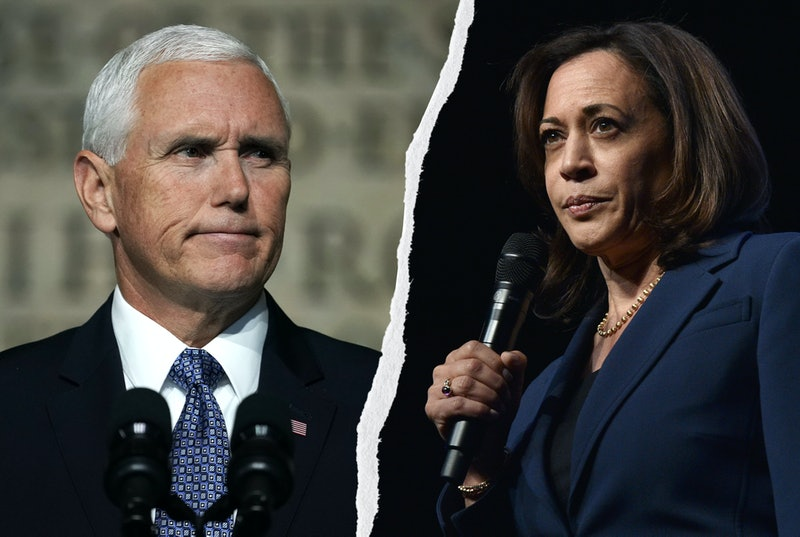 Vice President Mike Pence and Sen. Kamala Harris