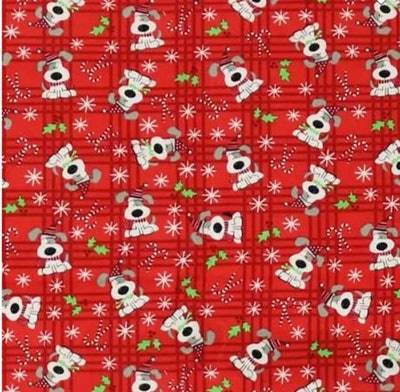 Fitted Flannel crib sheet: Holiday dogs