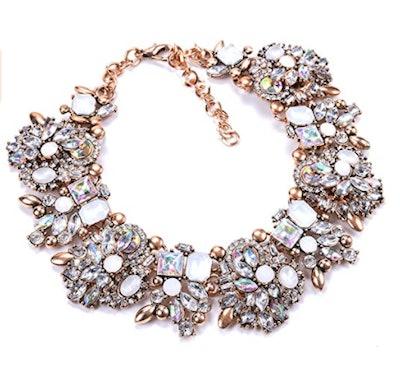 Zthread Crystal Bib Necklace