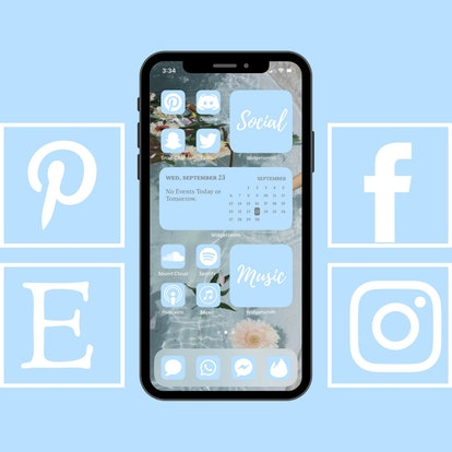 Pastel Blue Icon Pack For New IOS 14 Update
