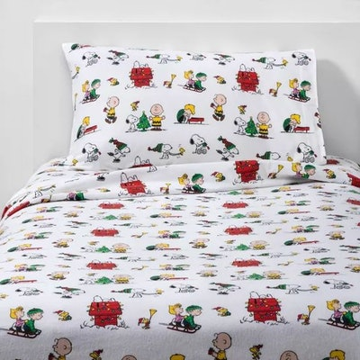 Peanuts Holiday Flannel Sheet Set