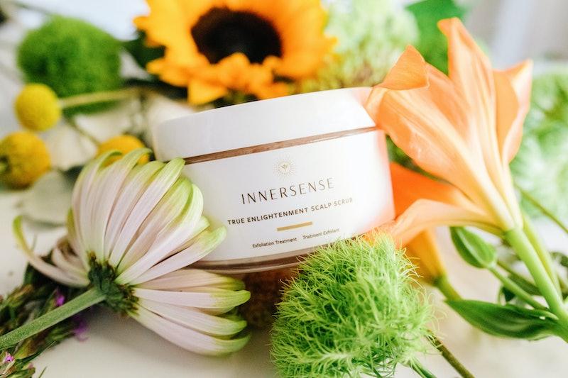 Innersense Organic Beauty True Enlightenment Scalp Scrub in jar.