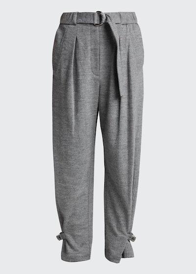 Cinched Wool Trousers w/ Belt