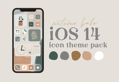 Autumn Boho Icon Theme Pack