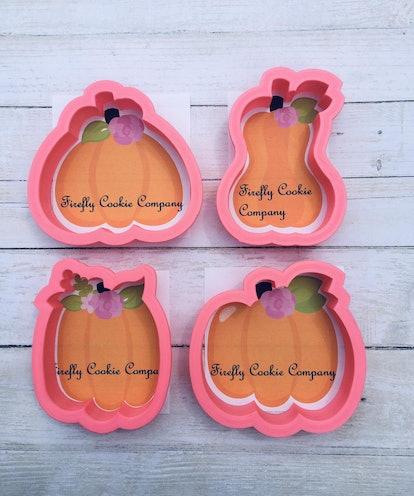 Floral Pumpkins Cookie Cutter Fall Theme