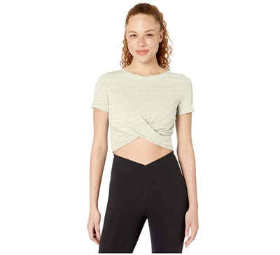 Core 10 Short Sleeve Knot Workout Top