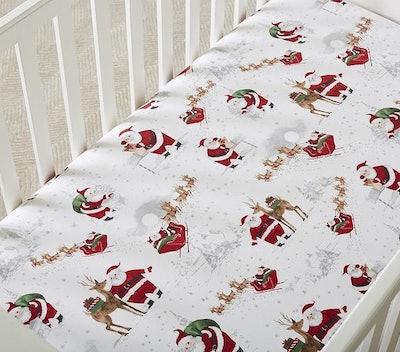 Heritage Santa Organic Fitted Crib Sheet
