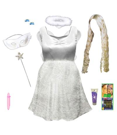 Sanctuarie Plus Size White Fairy Angel Costume and Accessory Kit