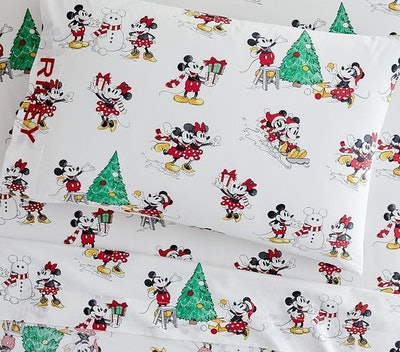 Organic Disney Mickey Mouse Holiday Sheet Set & Pillowcases