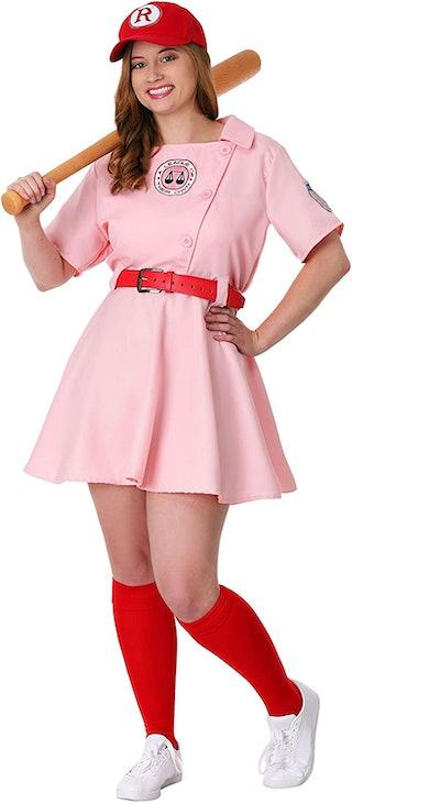 League of Their Own Dottie Plus Size Womens Costume Set