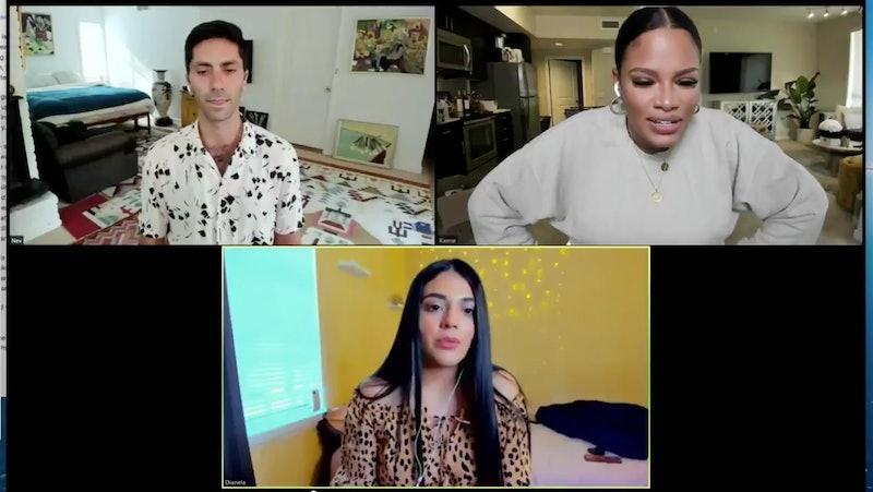 Nev, Kamie, and Dianela on the Oct. 7 episode of 'Catfish'