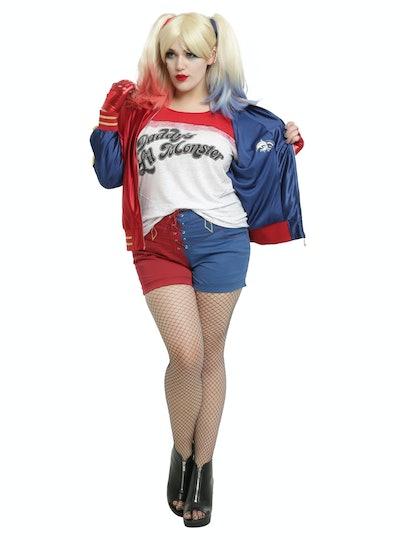 Hot Topic Plus Size DC Comics Suicide Squad Harley Quinn Satin Souvenir Jacket