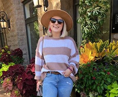 ZESICA Knit Striped Sweater