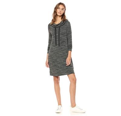 Daily Ritual Funnel Neck Sweatshirt Dress