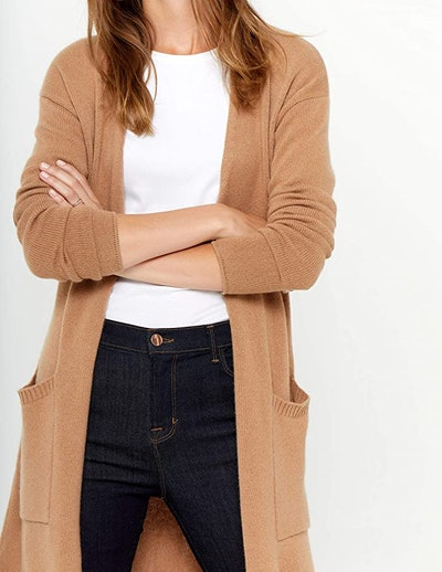 State Cashmere Open Front Long Cardigan