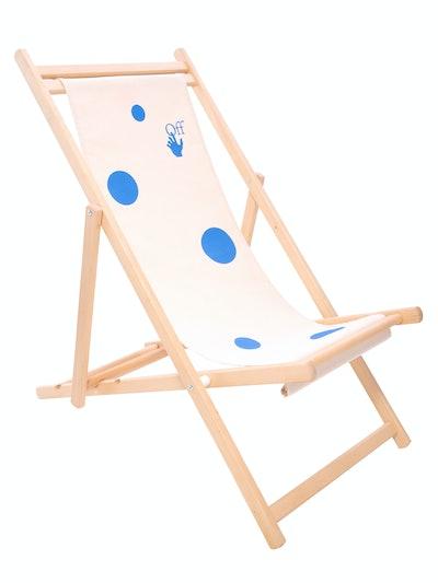 Off-White Logo Print Deck Chair
