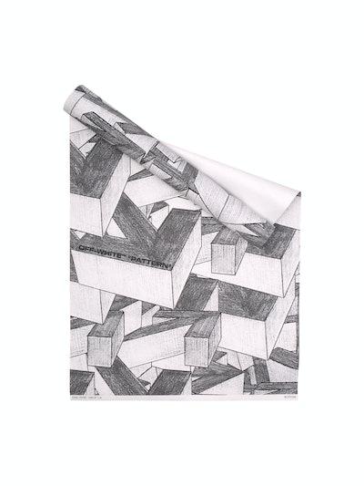 Off-White Arrows Print Wallpaper