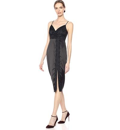 BCBGeneration Lace Overlay Slip Dress