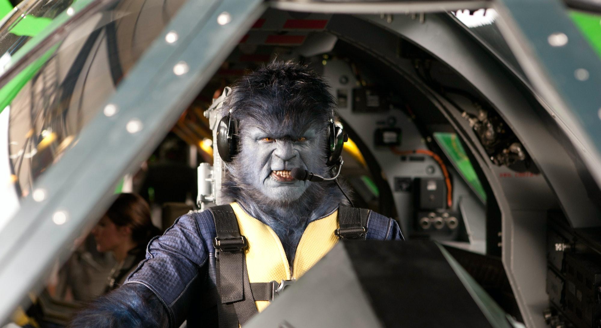 Nicholas Hoult as Hank McCoy, aka Beast.