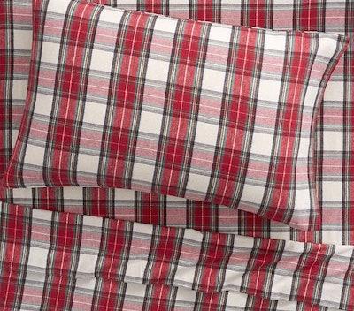 Organic Flannel Plaid Morgan Sheet Set & Pillowcases