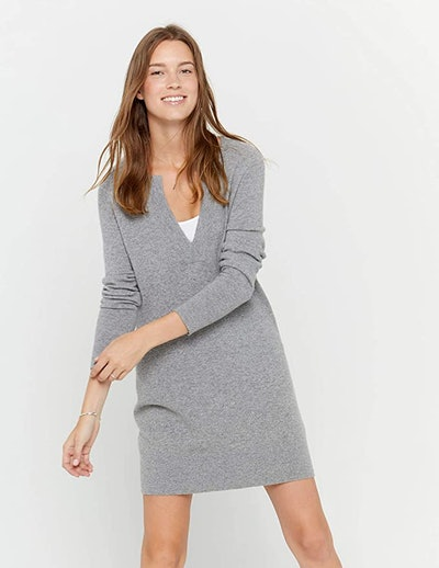 State Cashmere V-Neck Tunic Dress