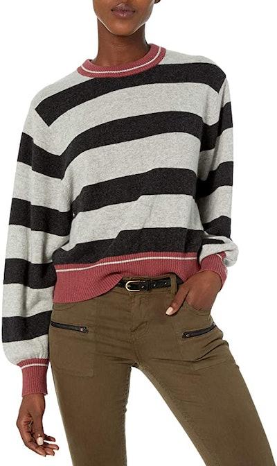 Splendid Cashmere Long Sleeve Pullover Sweater