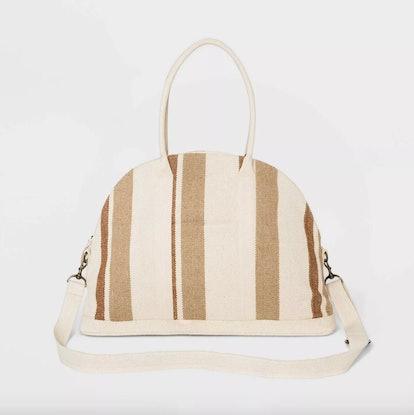 Universal Thread Striped Canvas Weekender Bag