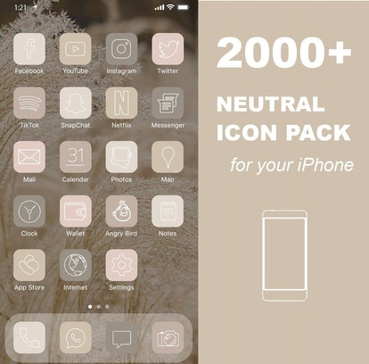 2000+ iOS 14 Neutral Icon Pack