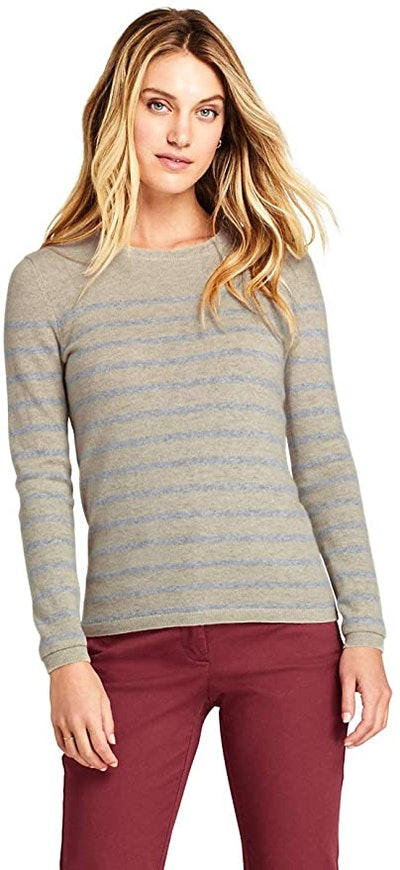 Lands' End Cashmere Crewneck Sweater