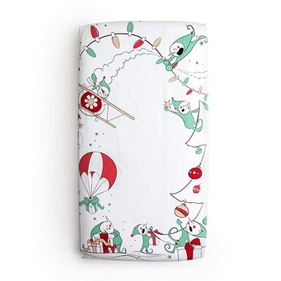 JumpOff Jo Cotton Crib Sheet, Christmas Mischief