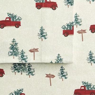 Farm Truck Cuddl Duds Flannel Sheet Set