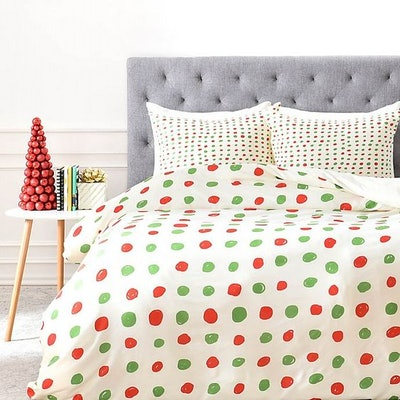 Deny Designs Leah Flores Holiday Polka Dots Bedding Collection
