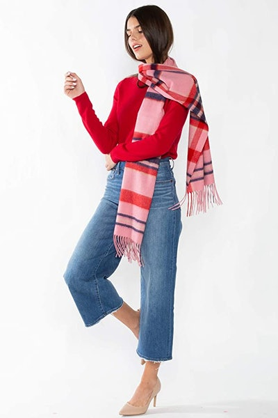 Jennie Liu 100% Cashmere Crewneck Sweater