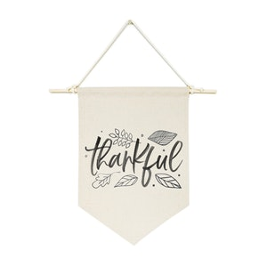 Thankful Hanging Wall Canvas Banner