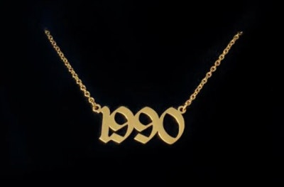 Old English Birthdate Necklace
