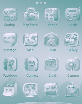 a customized iOS home screen