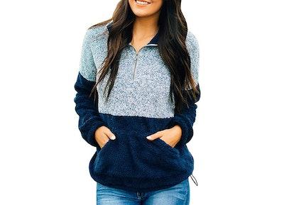 MEROKEETY Women's Long Sleeve Pullover