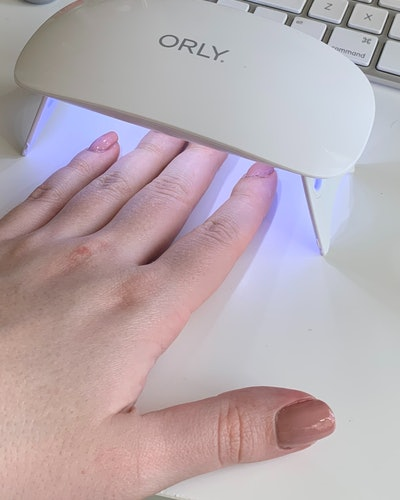 ORLY's Mini Gel Lamp review: using the new LED light to cure the GELFX nail polish.