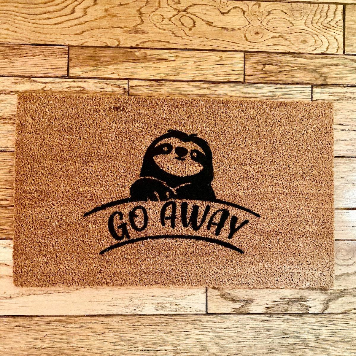 Go away cute doormat