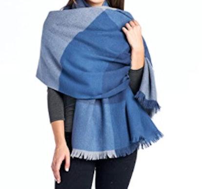 Mariyaab 100% Wool Oversized Scarf
