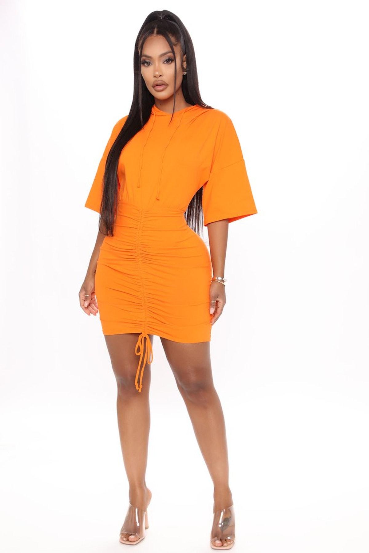 Fashion Nova Staying Home Ruched Mini Dress