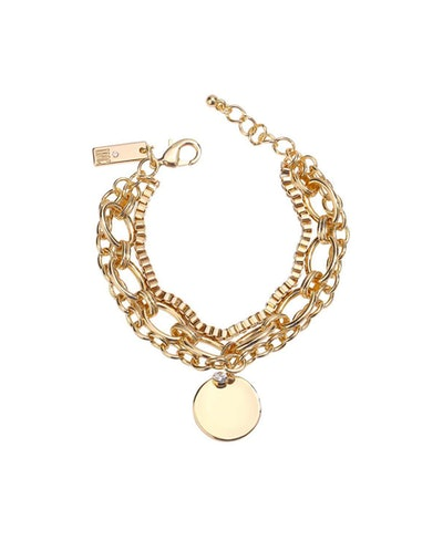 INC International Concepts INC Gold-Tone Crystal & Disc Charm Multi-Chain Flex Bracelet