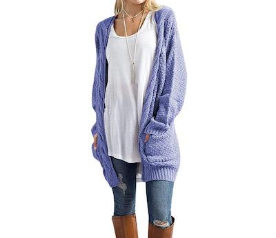 Traleubie Women's Long Sleeve Chunky Cardigan Sweater