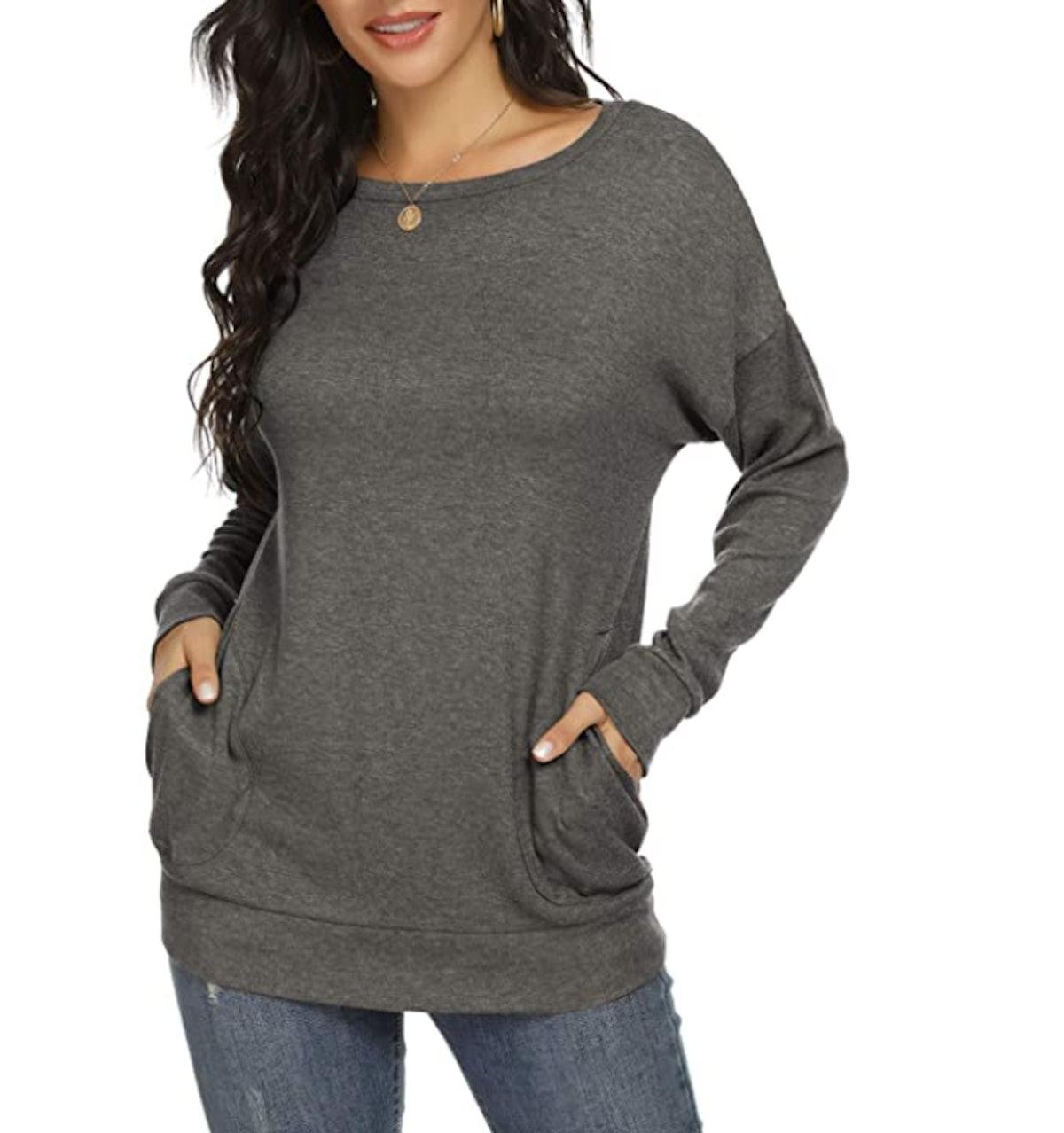 YSYOKOW Women's Casual Long Sleeve Tunic