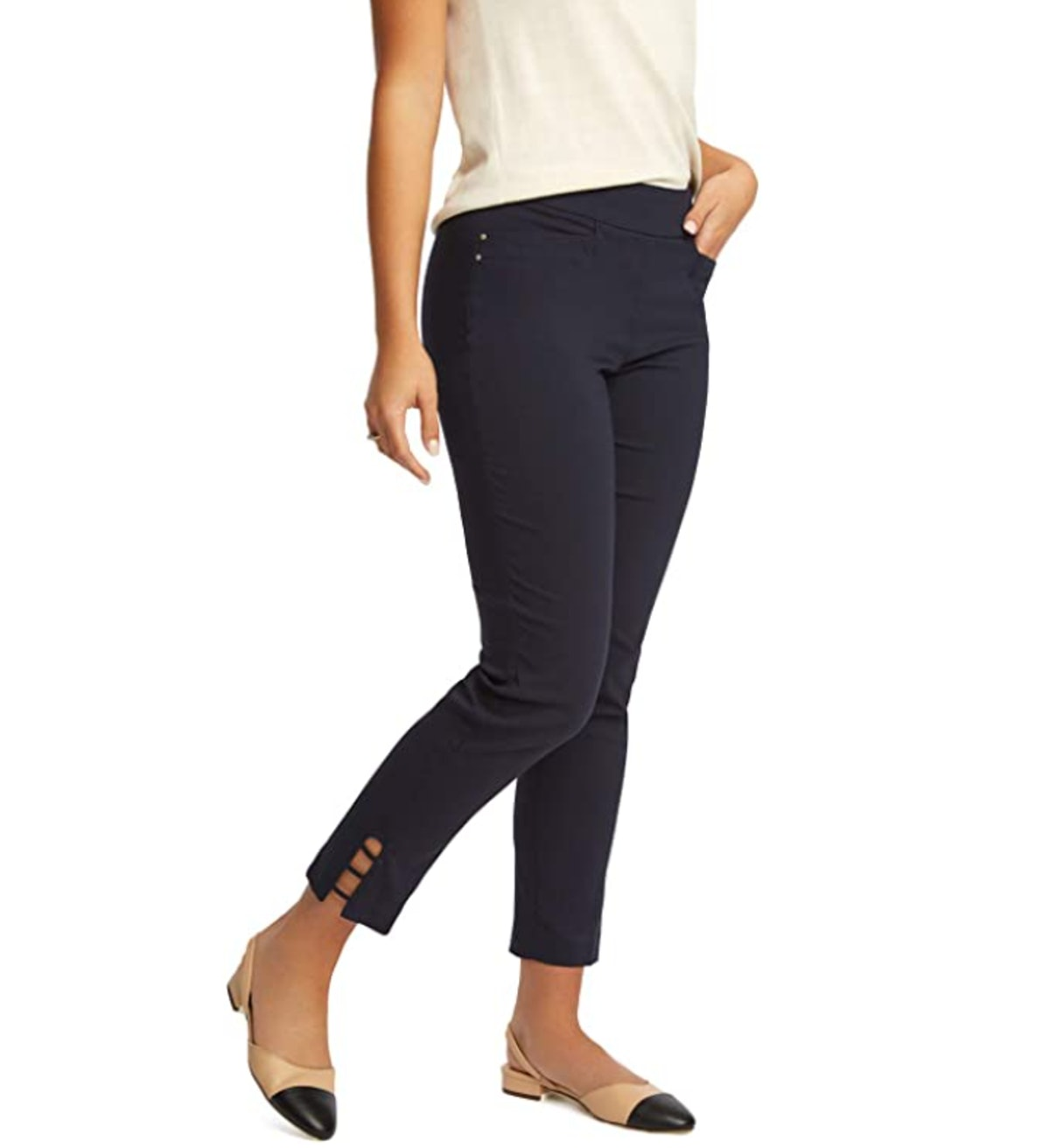 89th + Madison Women's Stretch Ankle Pants