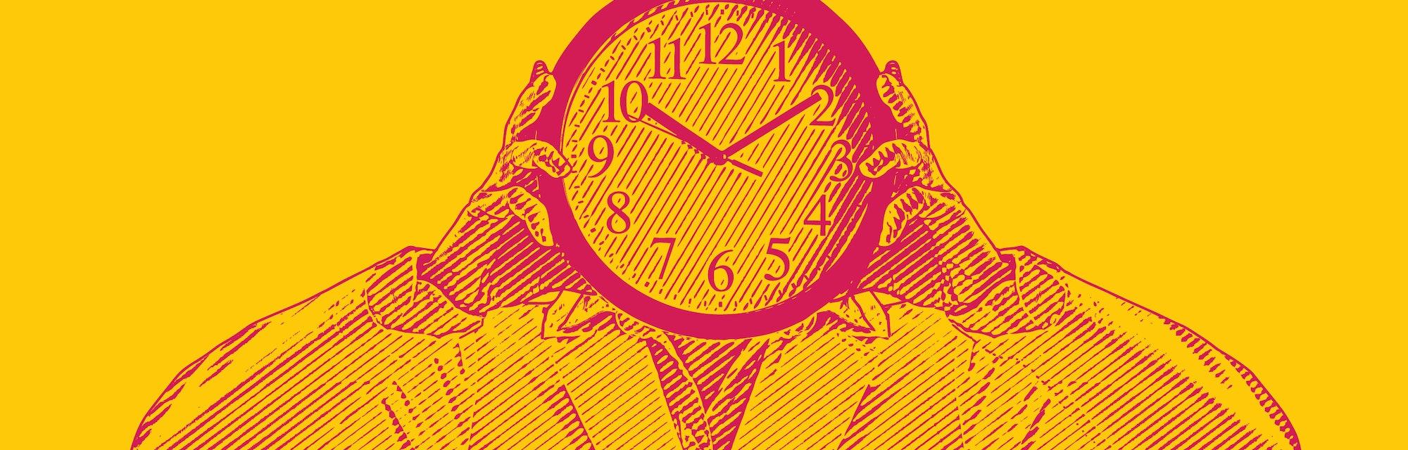 Body clock concept.