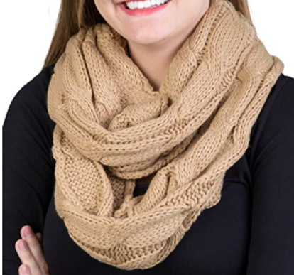 Funky Junque Cable-Knit Infinity Scarf